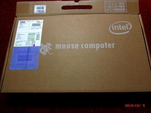 マウスコンピュータでノートパソコン LuvBook F シリーズ F510B-W7 (-QD 即納モデル)買いました