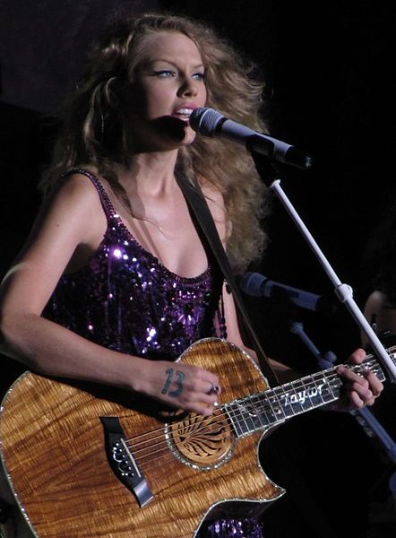 Taylor Swift performing at the Cavendish Beach Music Festival in Prince Edward Island, Canada.