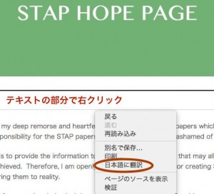 STAP HOPE PAGEより