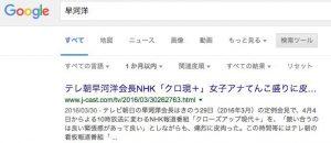 早河洋氏をGoogle検索