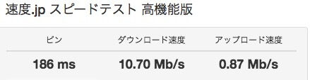 Wi-Fiのスピードテスト②