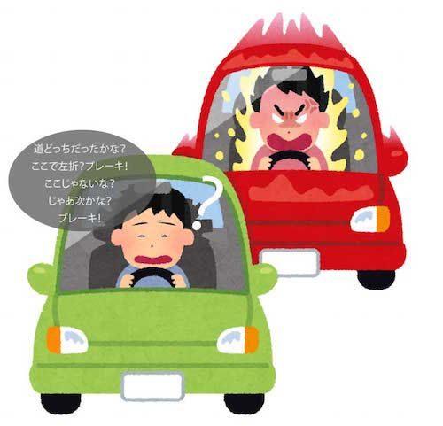 あおり運転のイメージ