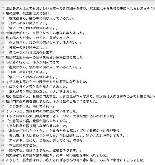 桃太郎の文章