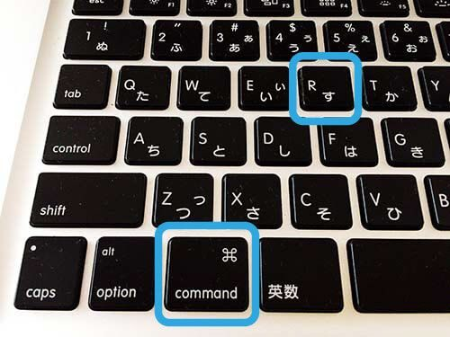 MacBook Pro Mid2012 ⌘commandとRキーを囲ったキーボード