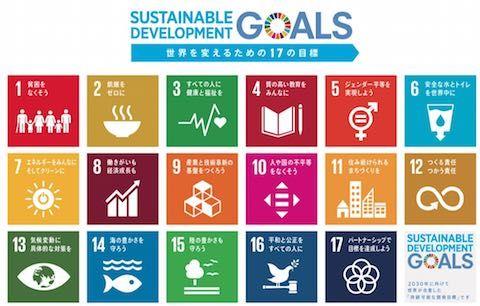 SDGs17項目のロゴと説明