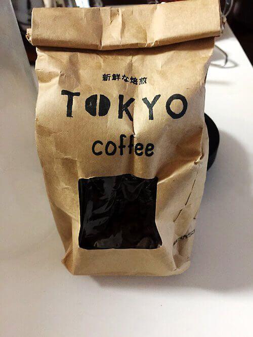 オーガニックコーヒー TOKYO coffeeの豆